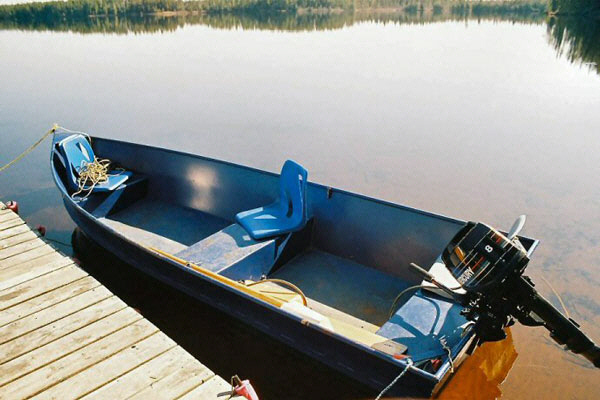 Complete with seats, oars, anchor and safety equipment.