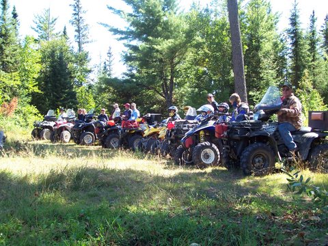Group picture after day of ATV riding.