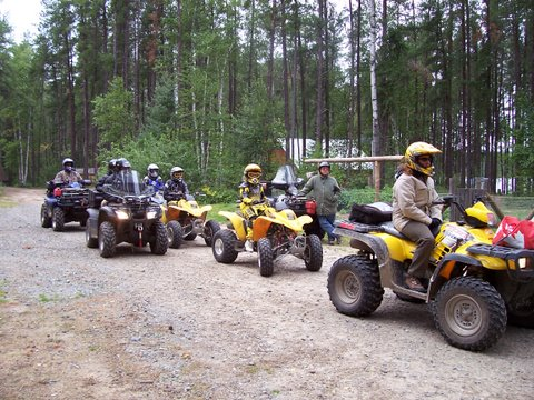 Preparing for a day trip of ATV riding.