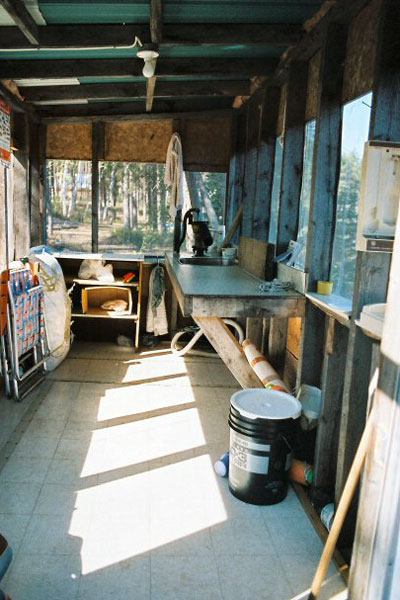 Interior View of fish cleaning hut