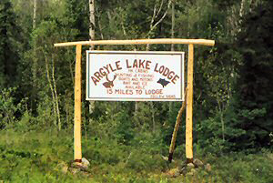 Argyle Lake Lodge Road Signs